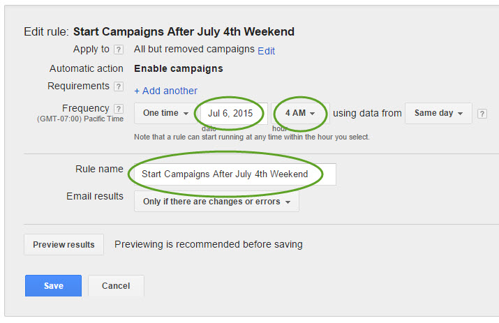 Start ppc campaigns back up